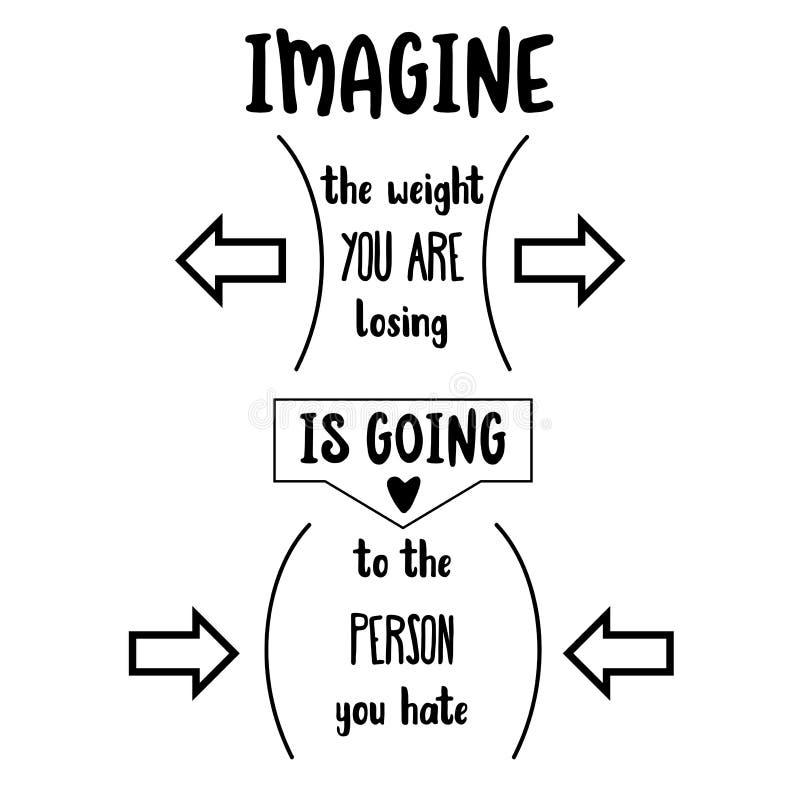 Grappig citaat over dieet vector illustratie