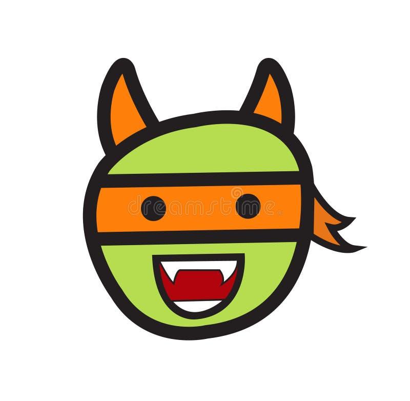 Grappig de mascotteontwerp van het Karaktergezicht royalty-vrije stock afbeelding