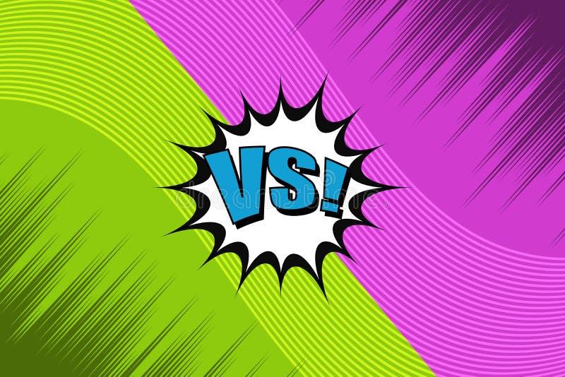 Grappig duel en strijdconcept vector illustratie
