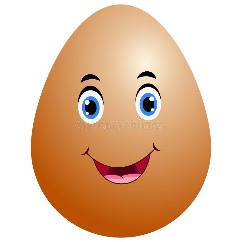 Grappig emojipictogram van het beeldverhaalpaasei stock illustratie