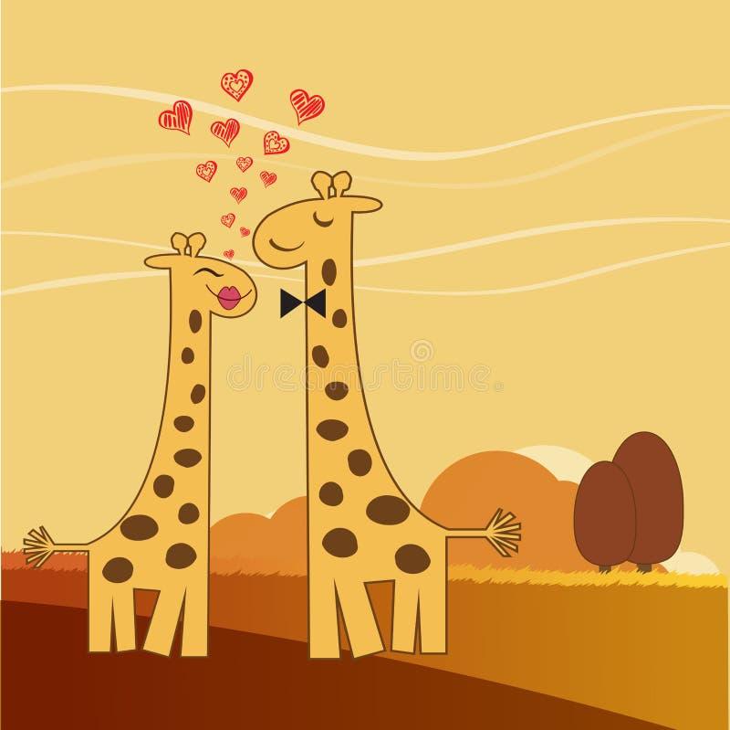 Grappig girafpaar in liefde