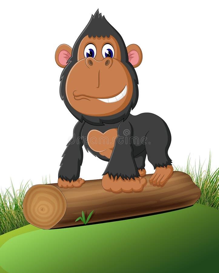 Grappig gorillabeeldverhaal royalty-vrije illustratie