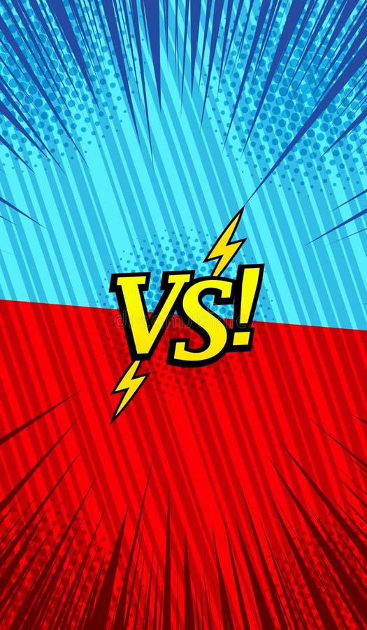 Grappig helder duel verticaal malplaatje royalty-vrije illustratie