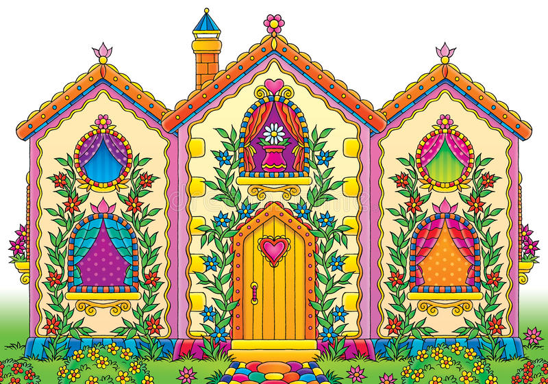 Grappig huis vector illustratie