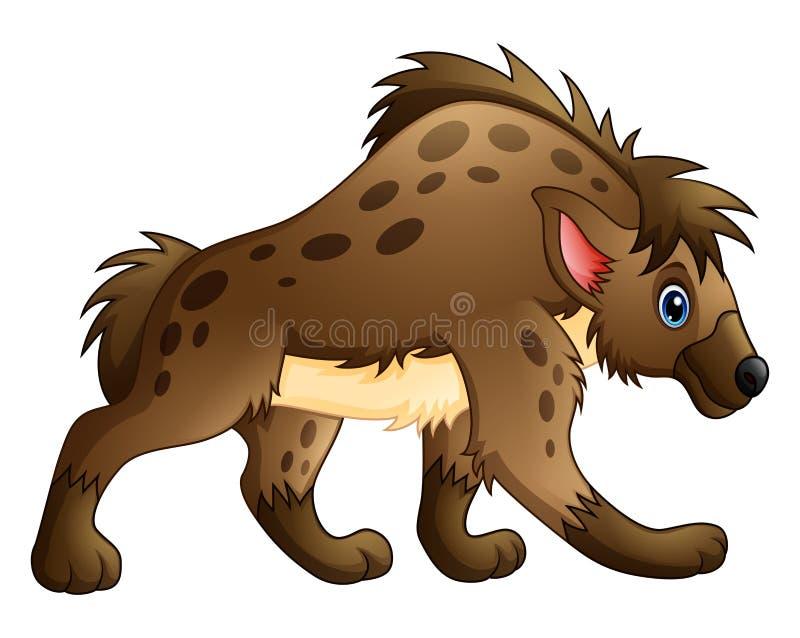 Grappig hyenabeeldverhaal vector illustratie