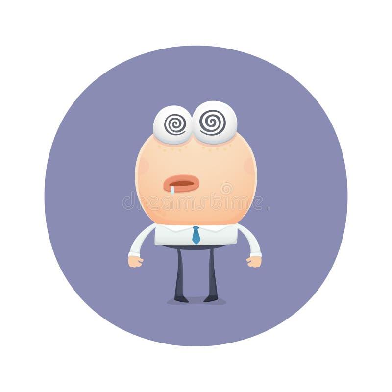 Grappig karakter met een waarde van gehypnotiseerd stock illustratie