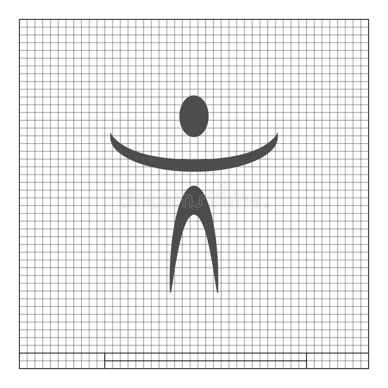 Grappig karakterpictogram stock illustratie