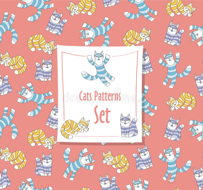 Grappig Kattenpatroon vector illustratie
