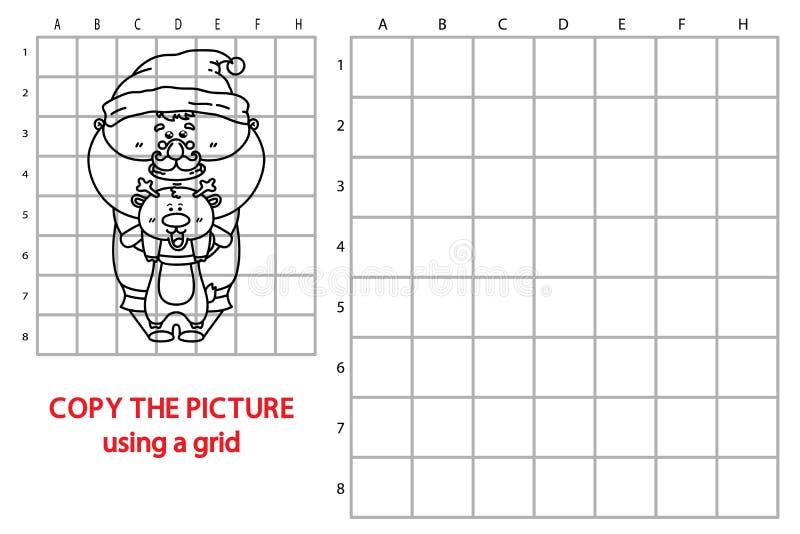Grappig Kerstmanspel royalty-vrije illustratie