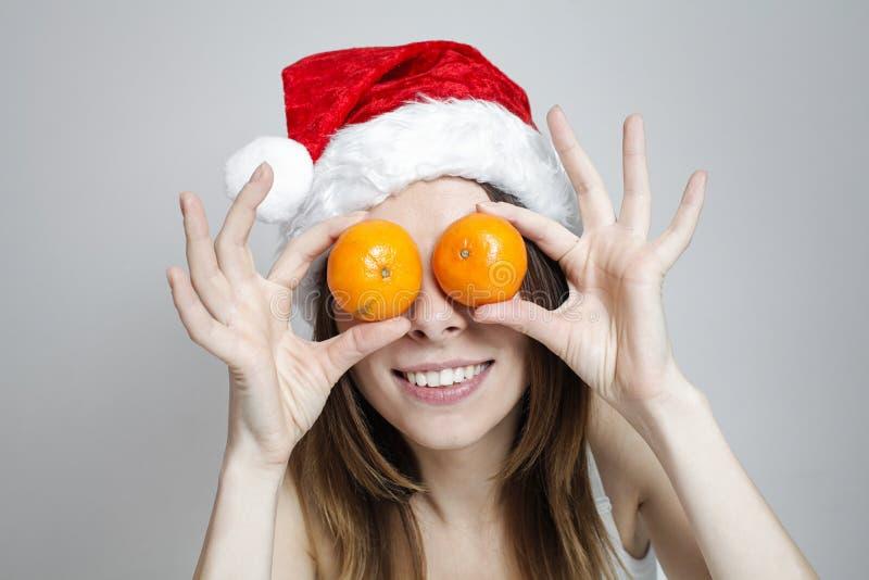 Grappig Kerstmismeisje royalty-vrije stock foto's