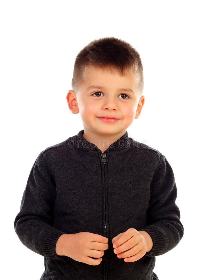 Grappig klein kind met royalty-vrije stock afbeelding