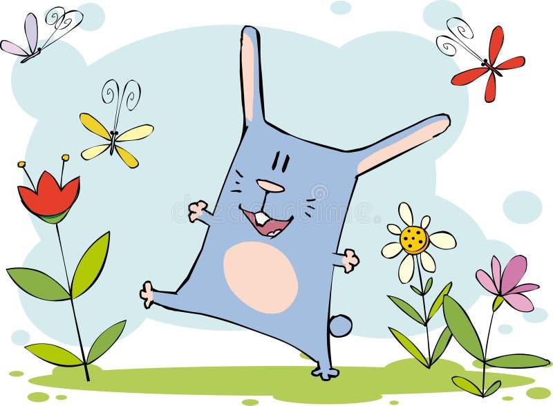 Grappig konijntje vector illustratie