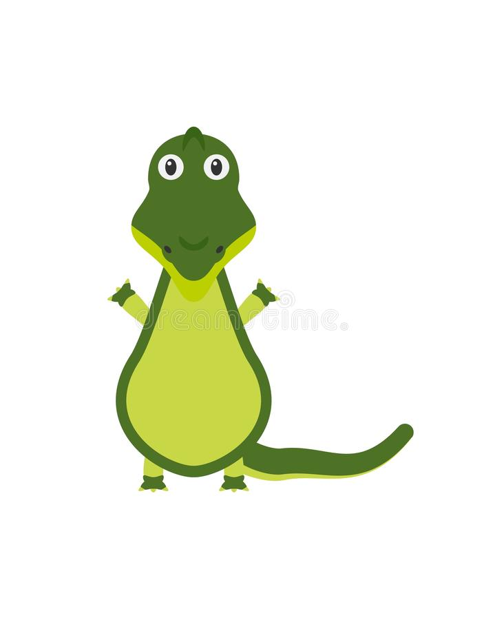 Grappig krokodilkarakter royalty-vrije illustratie