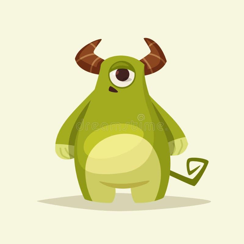 Grappig leuk monsterkarakter De vectorillustratie van het beeldverhaal royalty-vrije illustratie