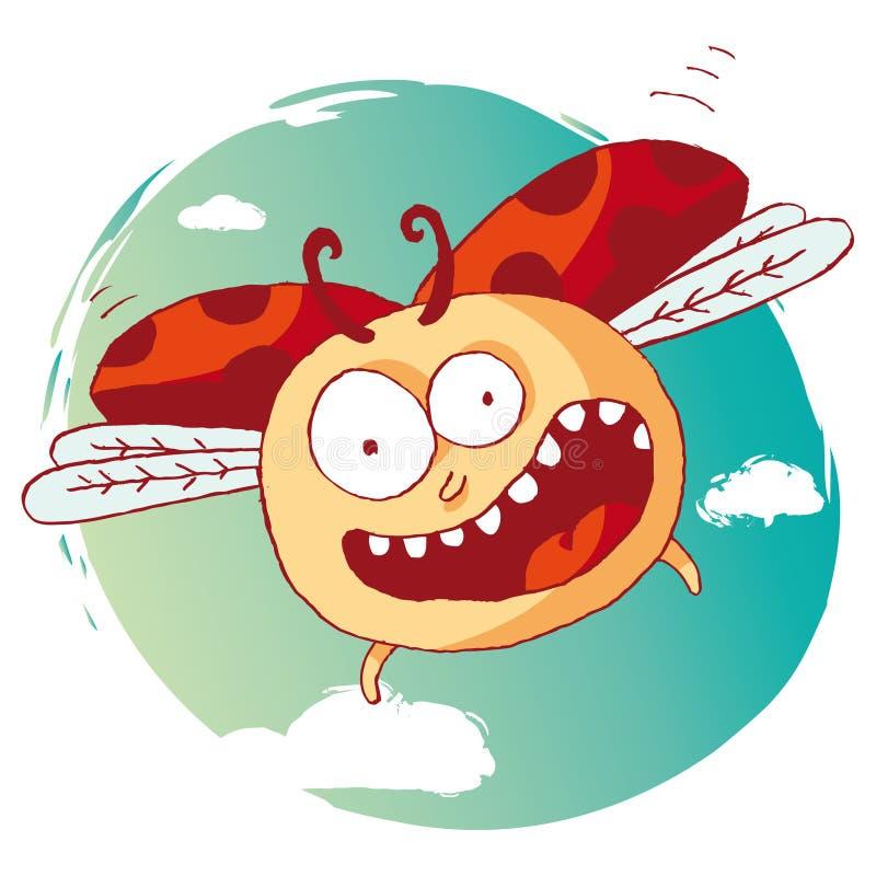 Grappig lieveheersbeestje royalty-vrije illustratie