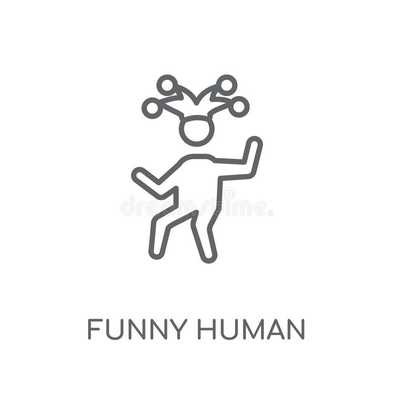 grappig menselijk lineair pictogram Het moderne concept van het overzichts grappige menselijke embleem vector illustratie
