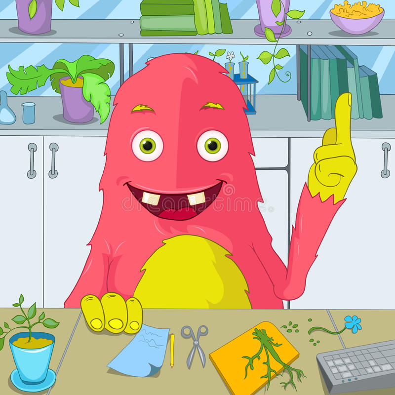 Grappig Monster. stock illustratie