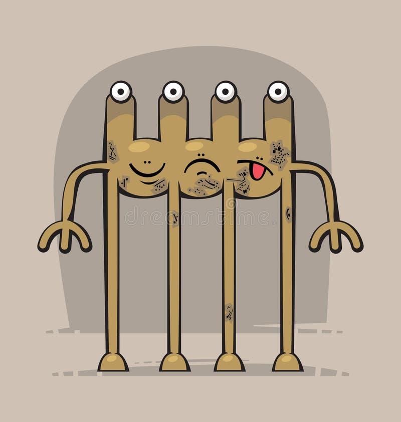 Grappig monster vector illustratie afbeelding bestaande uit geleid 33699511 - Ogen grappig ...