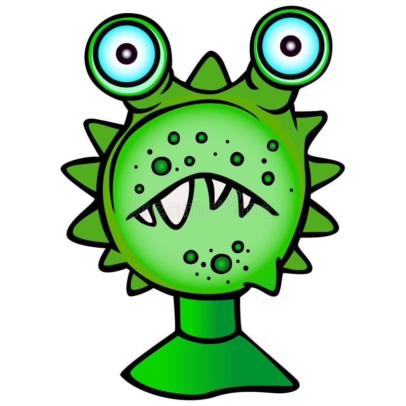 Grappig Monster, klein groot-eyed monster stock illustratie