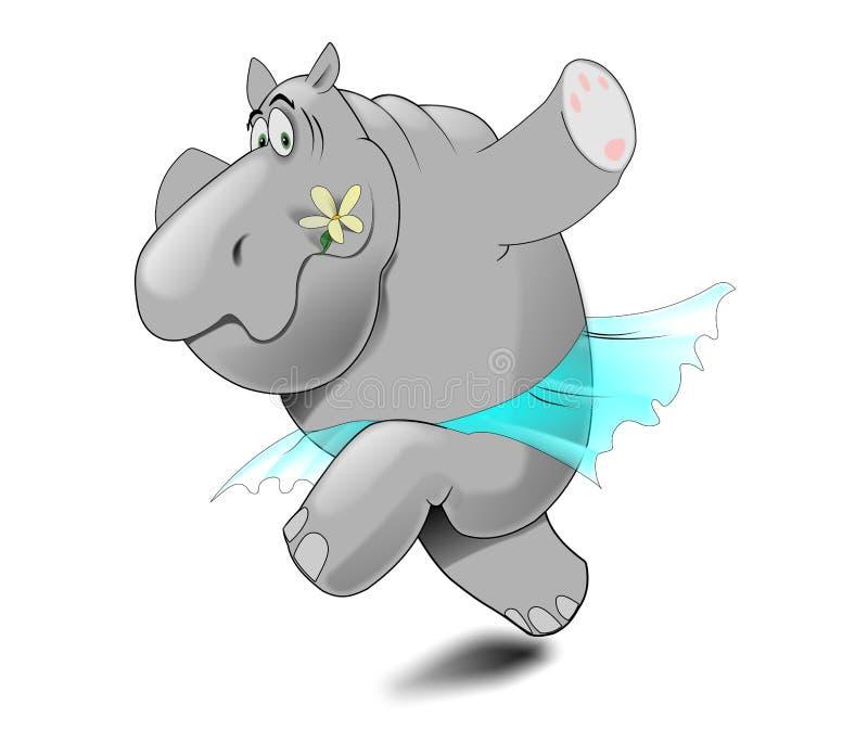 Grappig nijlpaard vector illustratie