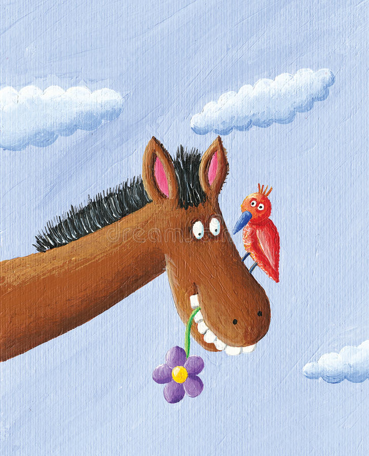 Grappig Paard royalty-vrije illustratie