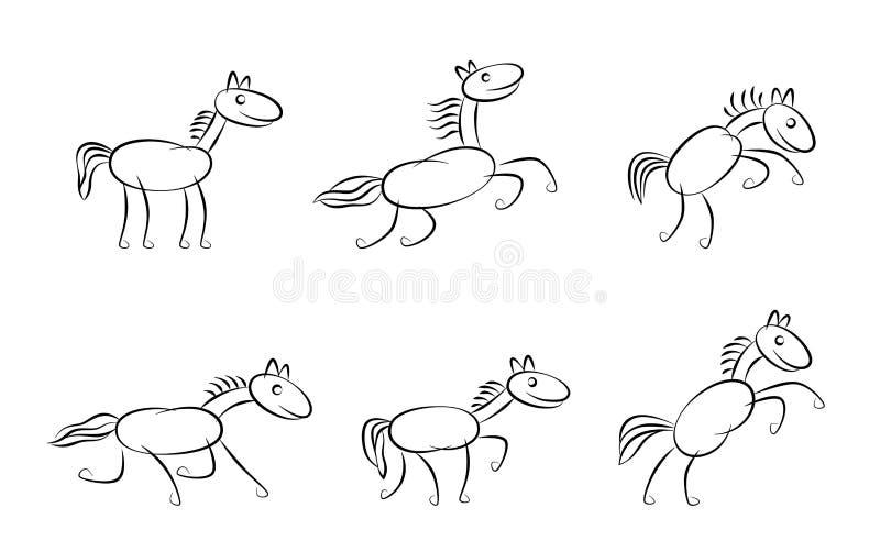 Grappig paard vector illustratie
