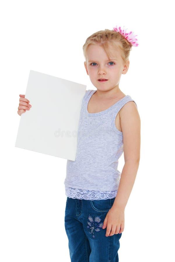 Grappig positief meisje stock foto