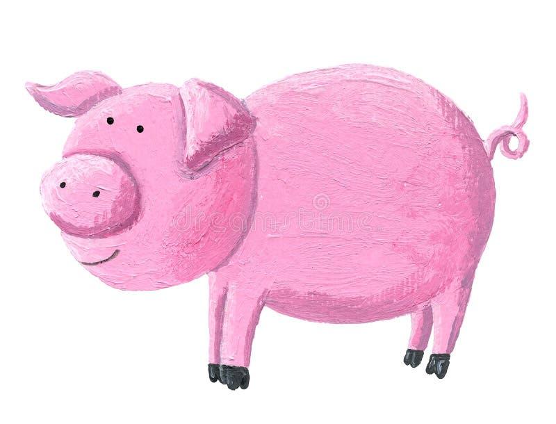 Grappig roze varken royalty-vrije illustratie