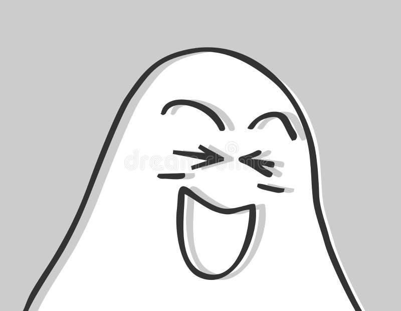 Grappig spook stock illustratie