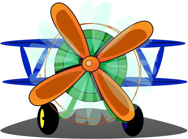 Grappig vliegtuig vector illustratie