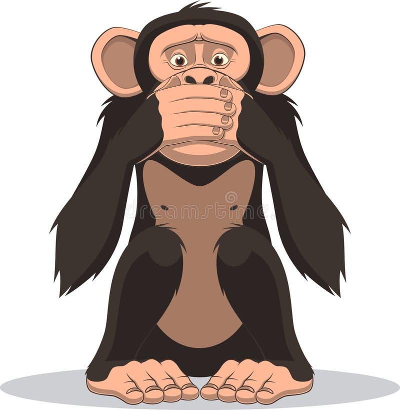 Grappig weinig aap vector illustratie