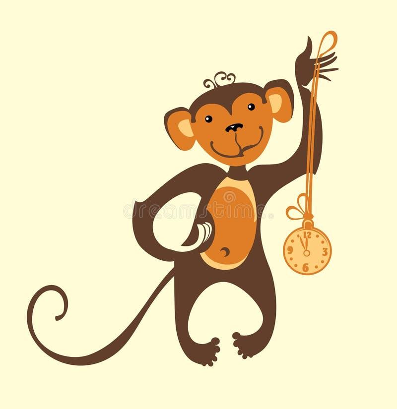 Grappige aap stock illustratie