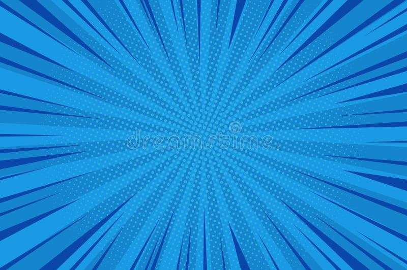 Grappige abstracte blauwe achtergrond stock illustratie