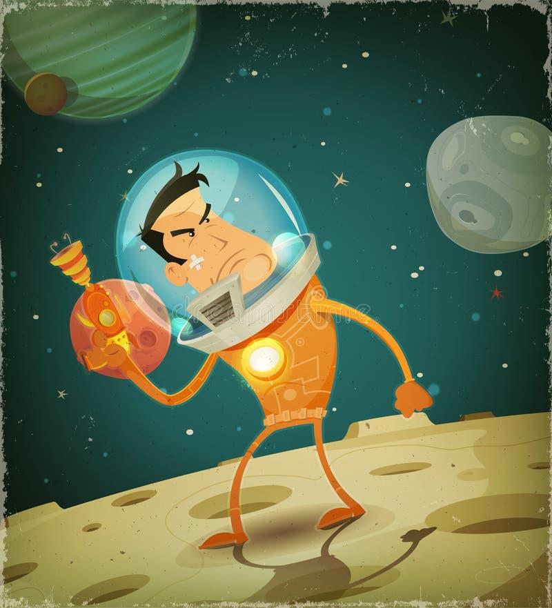 Grappige Astronaut Hero stock illustratie