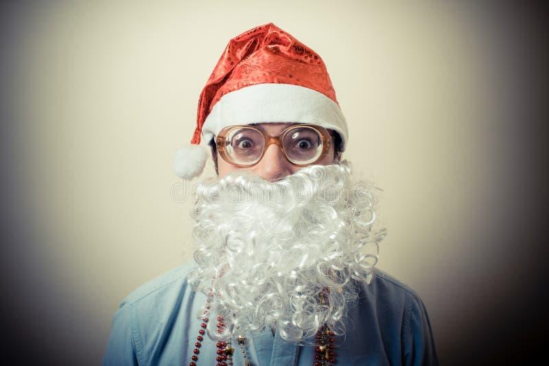 Grappige babbo van de Kerstman natale stock afbeelding