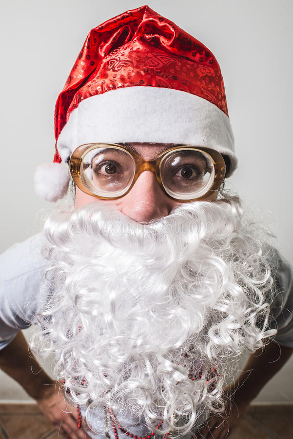 Grappige babbo van de Kerstman natale royalty-vrije stock foto