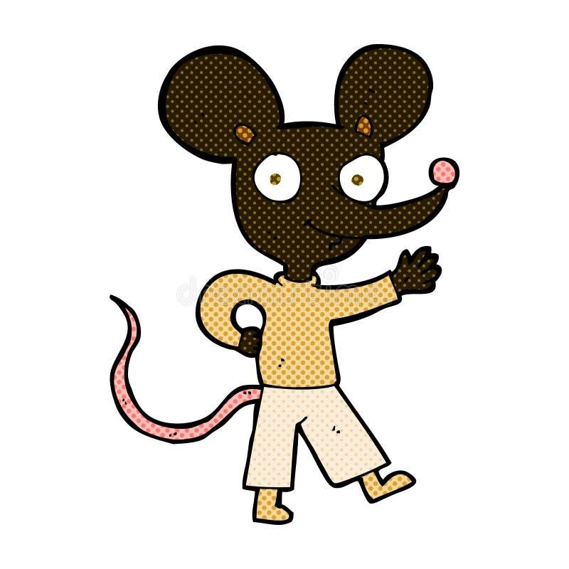 grappige beeldverhaal het golven muis royalty-vrije illustratie