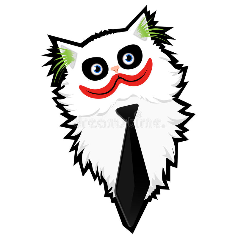 Download Grappige Beeldverhaal Kat-Joker Stock Illustratie - Illustratie bestaande uit outlining, grappig: 29503118