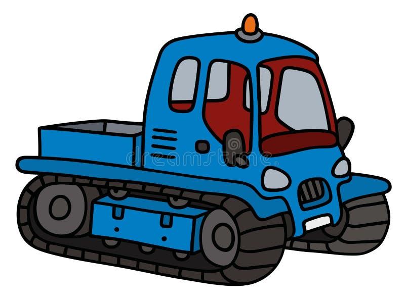 Grappige blauwe groomer vector illustratie