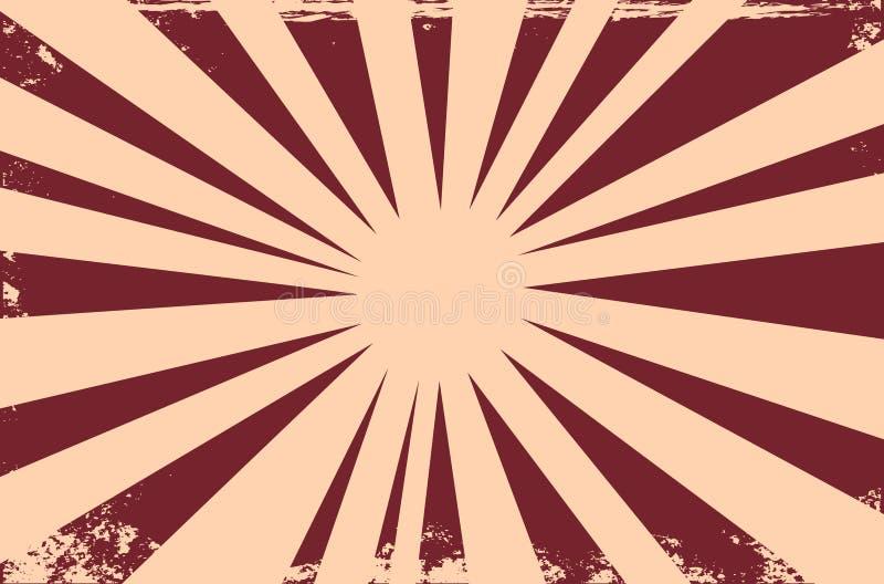 Grappige boekexplosie Grunge uitstekende achtergrond met lijnen Vect vector illustratie