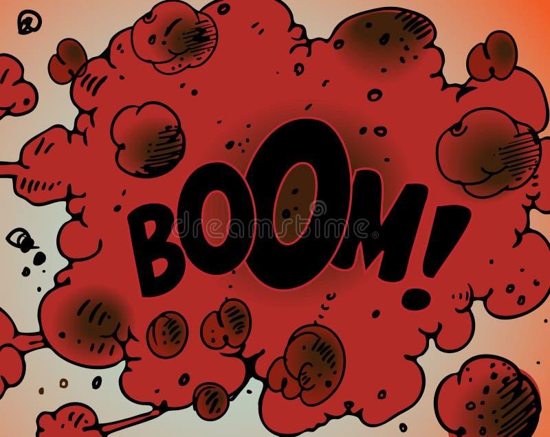 Grappige boekexplosies - Boom! vector illustratie