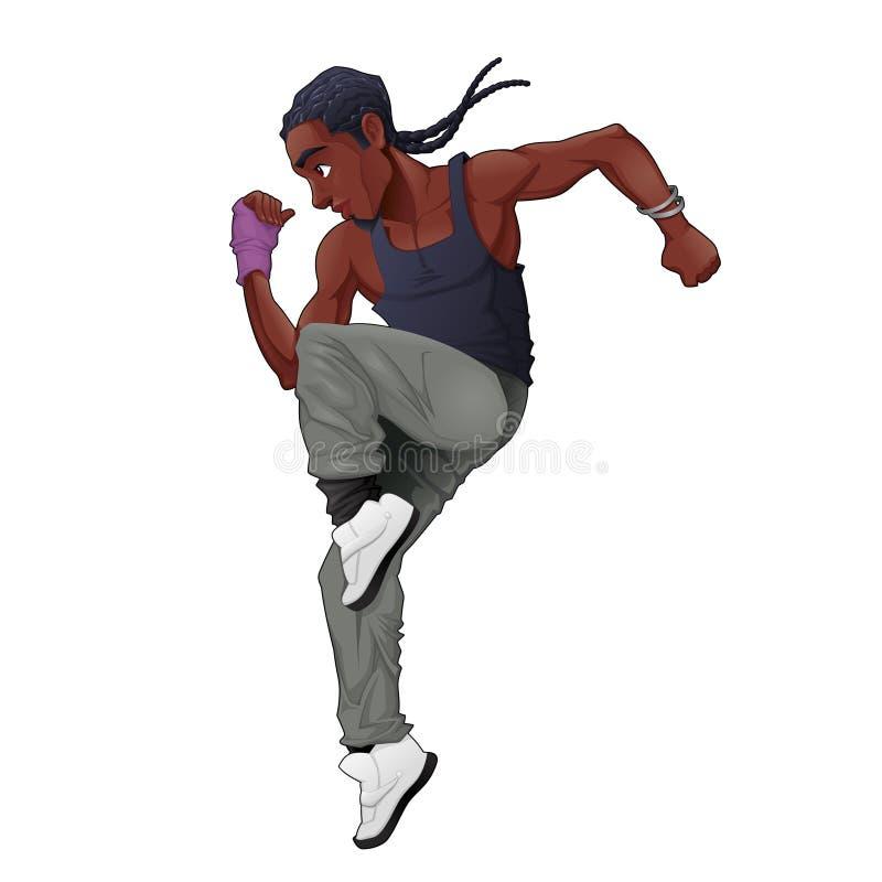 Grappige breakdancer vector illustratie