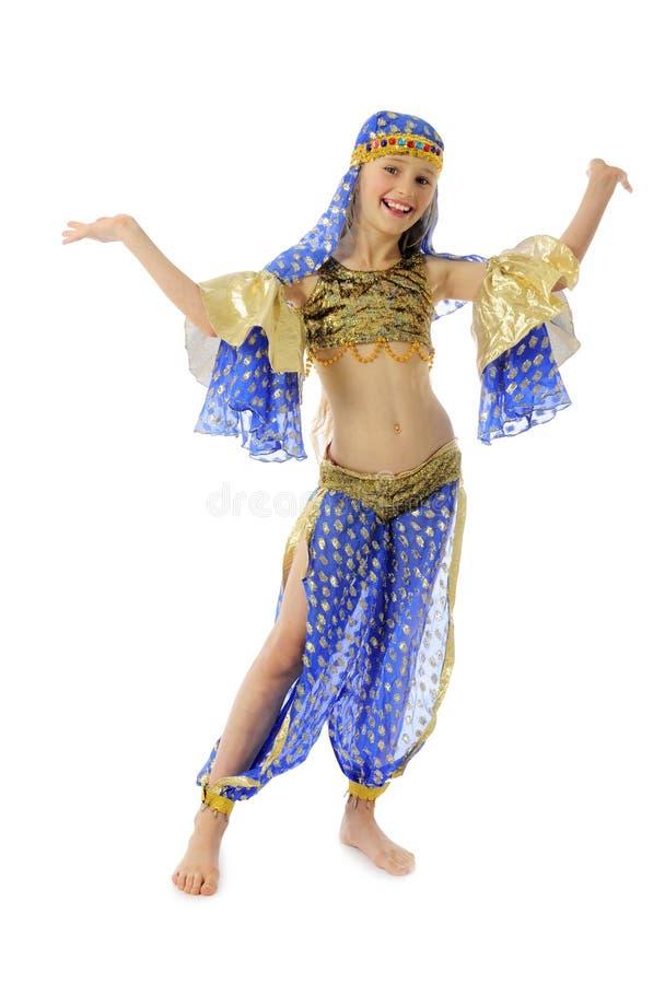 Grappige buik-danser royalty-vrije stock fotografie