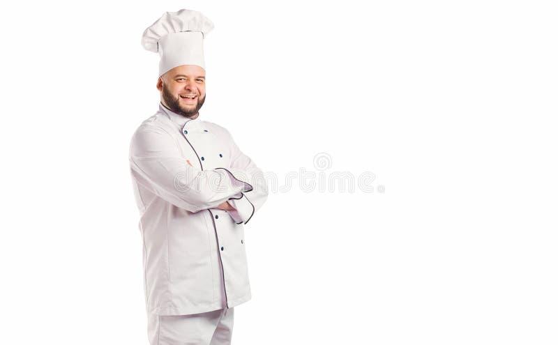 Grappige chef-kok met baardkok royalty-vrije stock foto