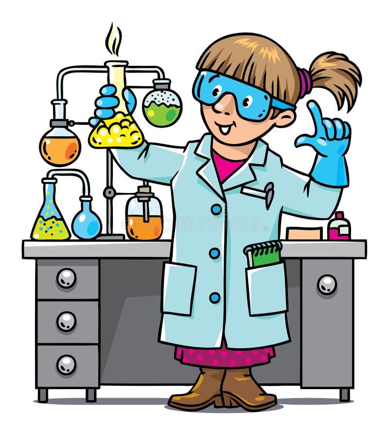 Grappige chemicus of wetenschapper vector illustratie