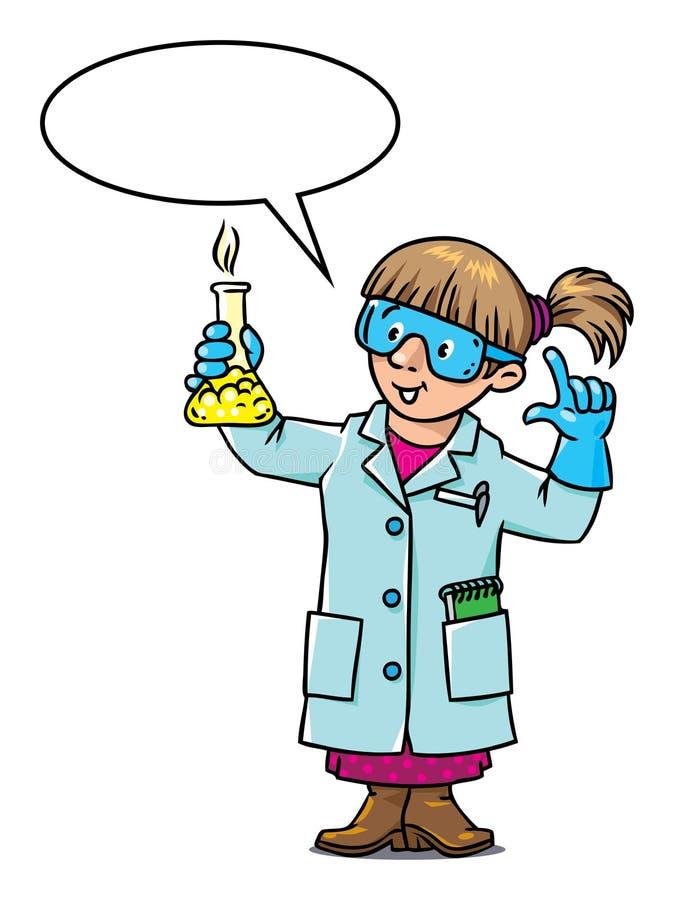 Grappige chemicus of wetenschapper stock illustratie
