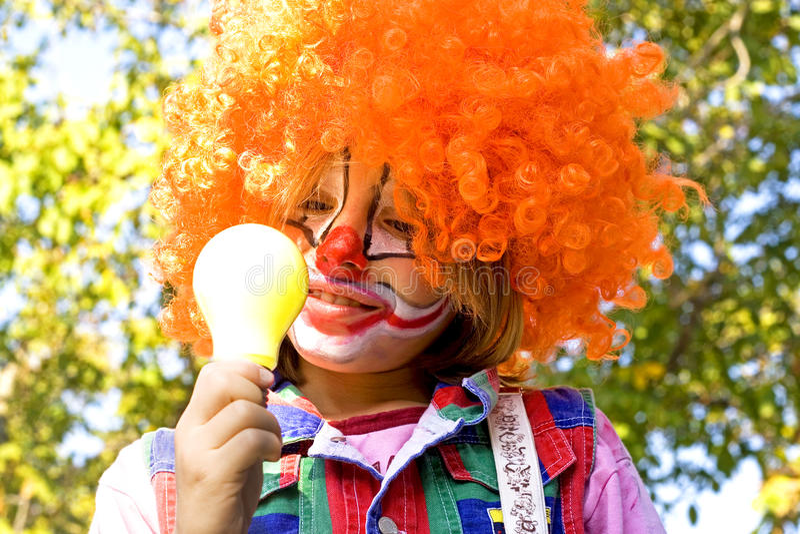 Grappige Clown royalty-vrije stock foto