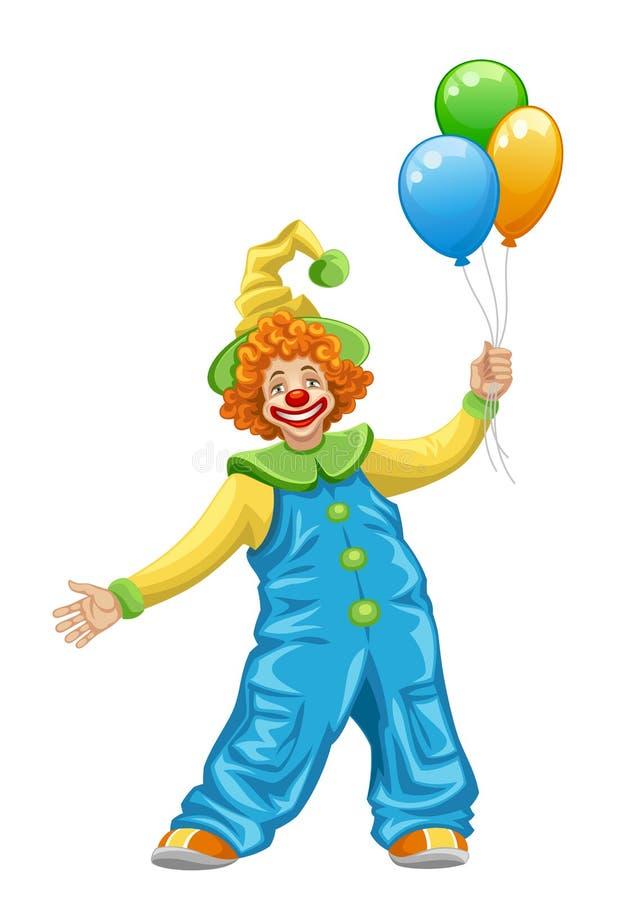 Grappige clown stock illustratie