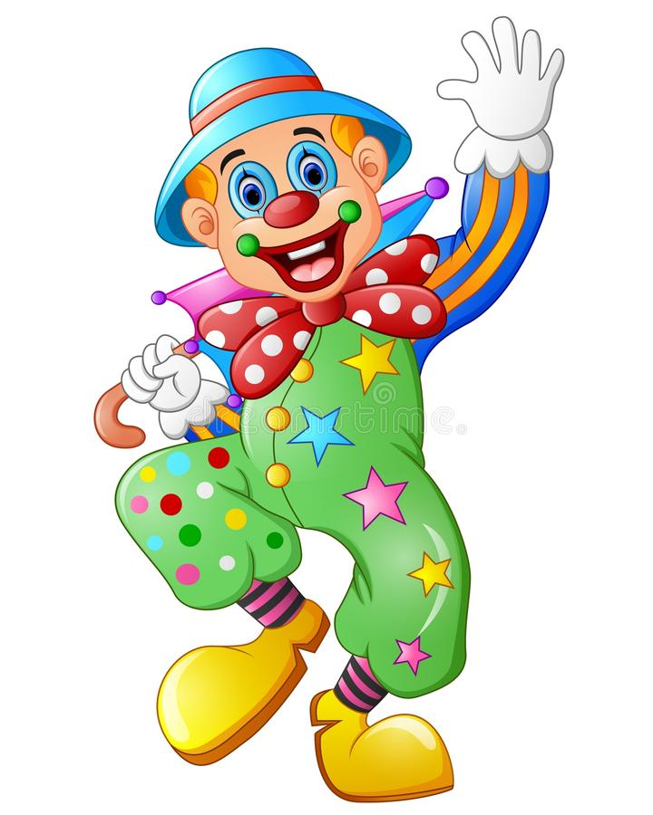 Grappige clown op een witte achtergrond vector illustratie