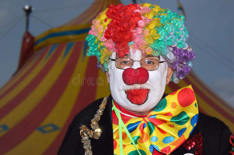 Grappige clown van Circus Shriners   stock fotografie